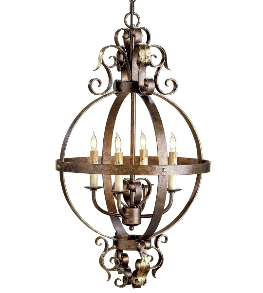 Coronation Chandelier by Currey and Company