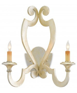 Retrospect Silver Wall Sconce by Currey and Company