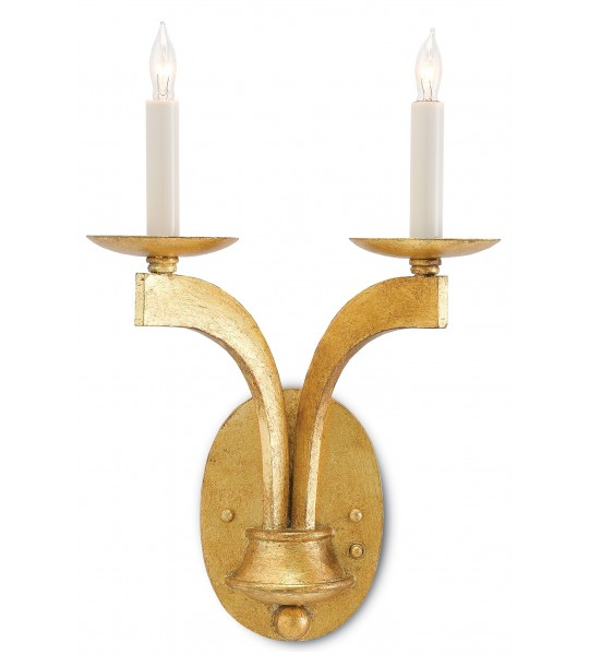 Venus Gold Wall Sconce by Currey and Company