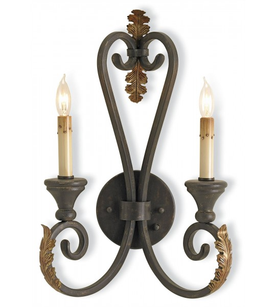 Orleans Black Wall Sconce by Currey and Company