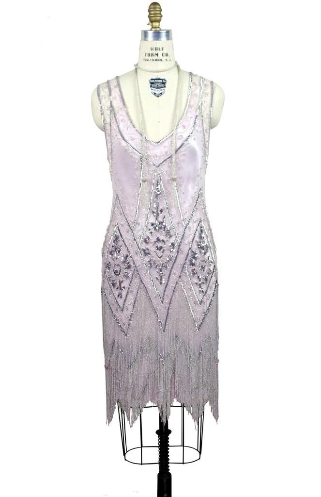1920s Style Fringe Party Dress in Pink Bon Bon
