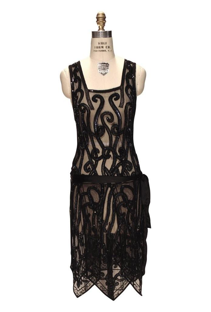 Art Nouveau Romantic Party Dress in Aurora