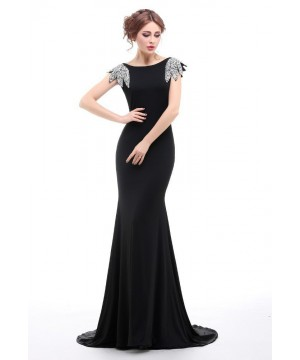 1930s Elegant Evening Gown in Black