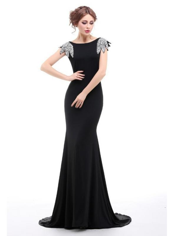 1930s Elegant Evening Gown in Black by The Deco Haus