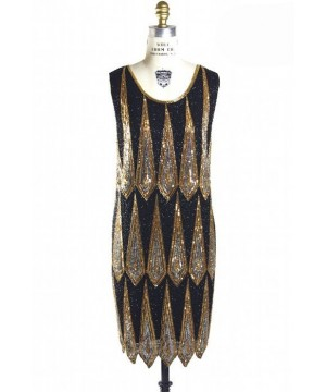 Charleston Art Deco Party Dress in Black by The Deco Haus