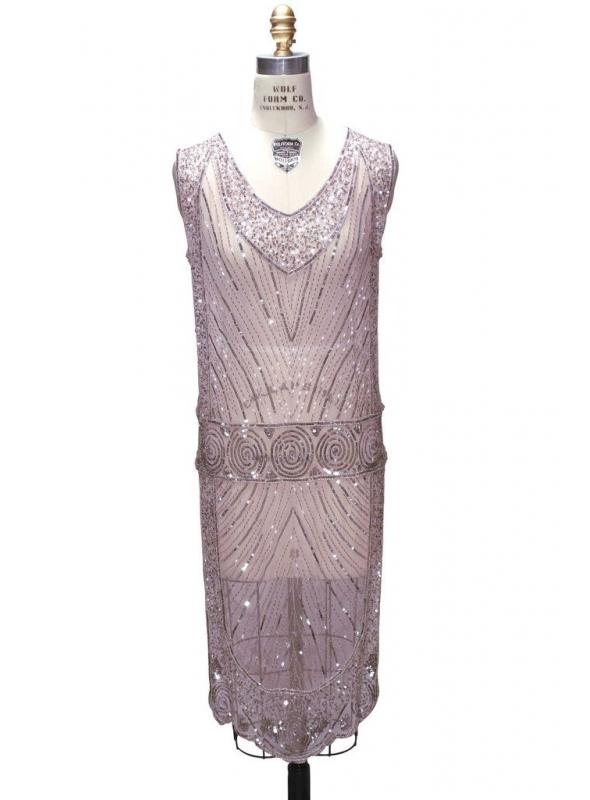 Great Gatsby Style Tabard Dress in Peppermint Pink by The Deco Haus