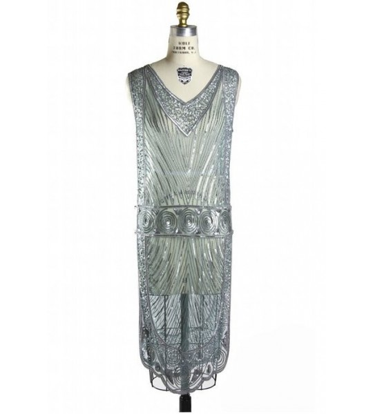 Great Gatsby Style Tabard Dress in Electrum by The Deco Haus