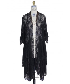 1930s Style Vintage Black Robe by The Deco Haus