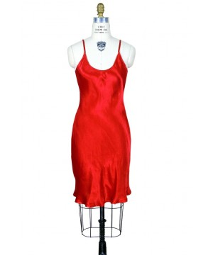 1930s Vintage Style Slip in Ruby by The Deco Haus
