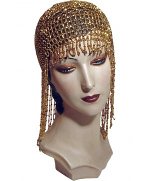 Flapper Style Jazz Cap in Gold by The Deco Haus
