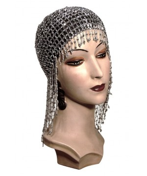 Flapper Style Jazz Cap in Silver by The Deco Haus