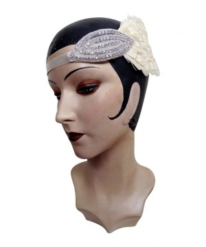 Roaring 20s Art Deco Wedding Headband Bandeau in Ivory by The Deco Haus