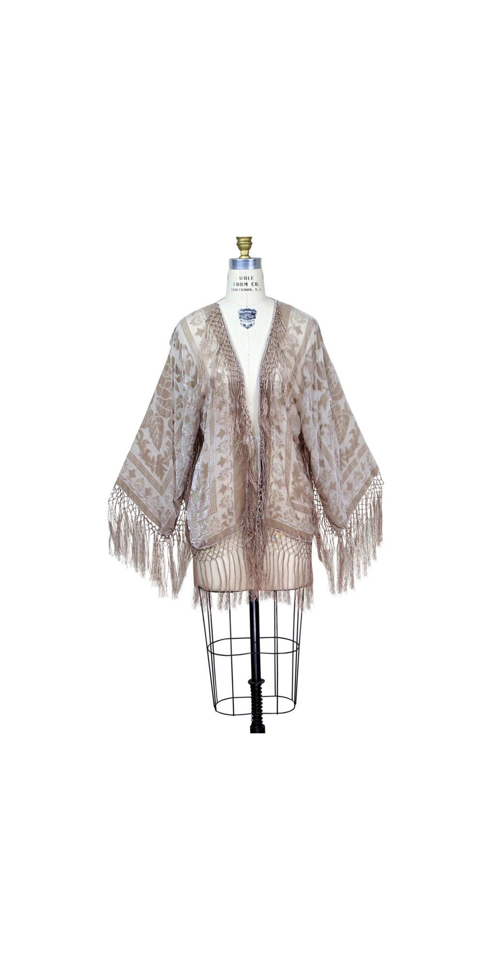 Art Deco Scarf Jacket In Champagne Rose By The Deco Haus
