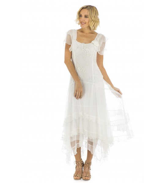 Carrie Vintage Inspired Wedding Dress in Ivory by Nataya