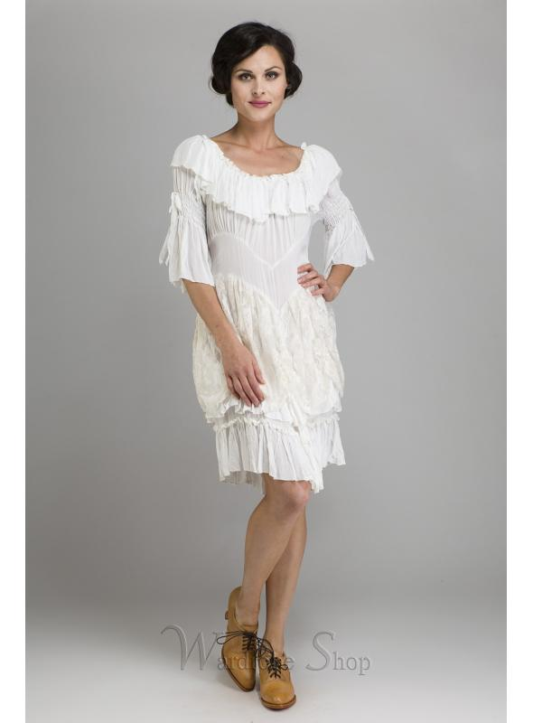 Cowgirl Ruffled Western Wedding Medium Dress by Marrika Nakk