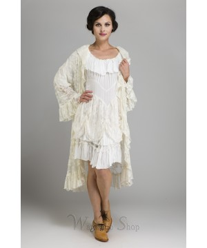 Western Style Romanza Jacket in White by Marrika Nakk