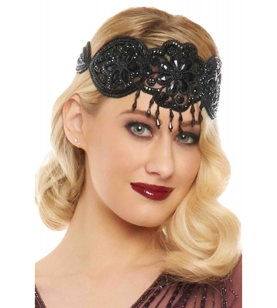 Gatsby Style Headband in Black