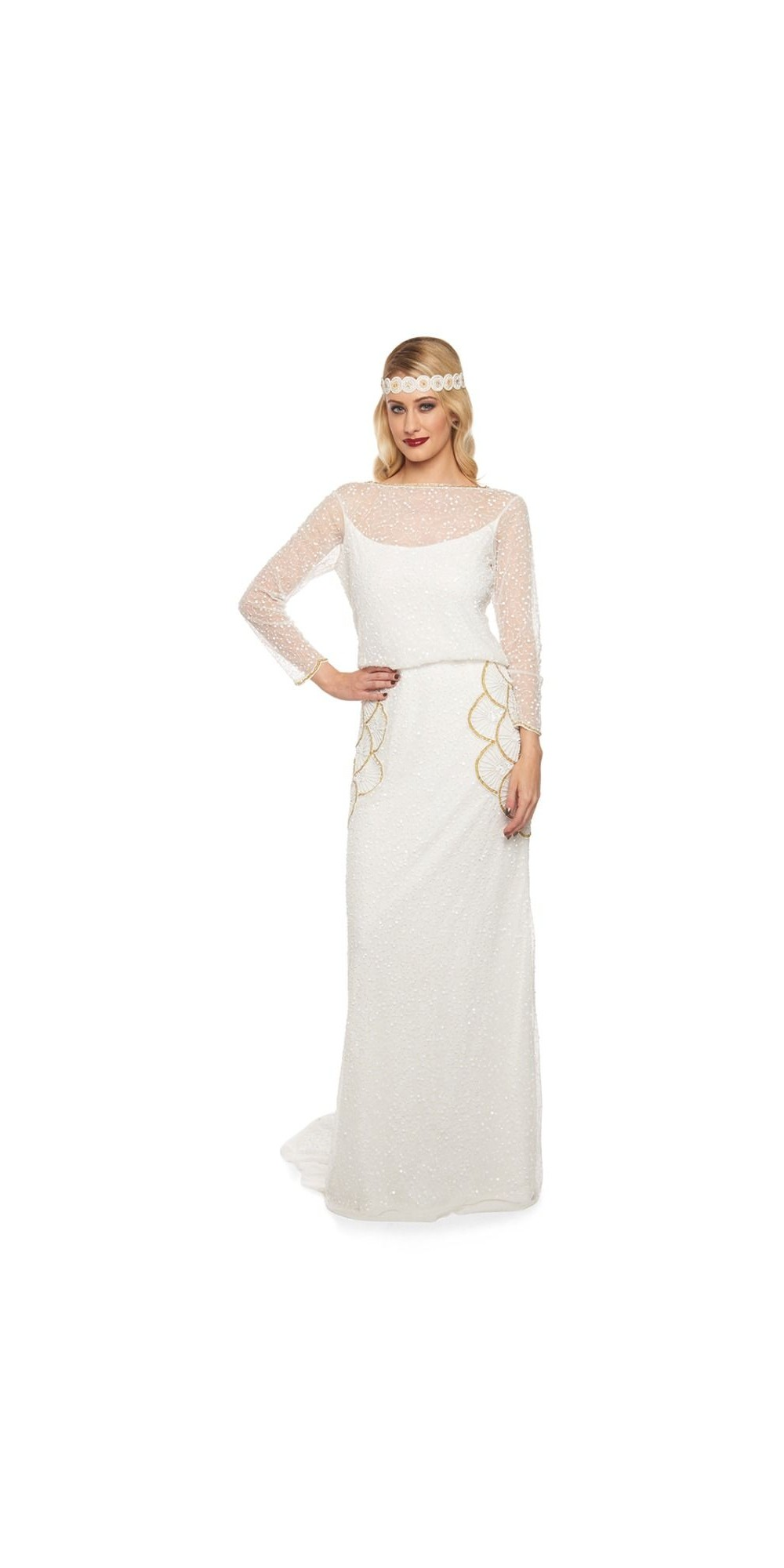 Great gatsby wedding gown in white gold for The great gatsby wedding dresses