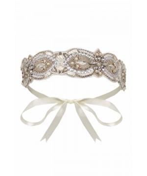 Vintage Inspired Flapper Headband in Cream