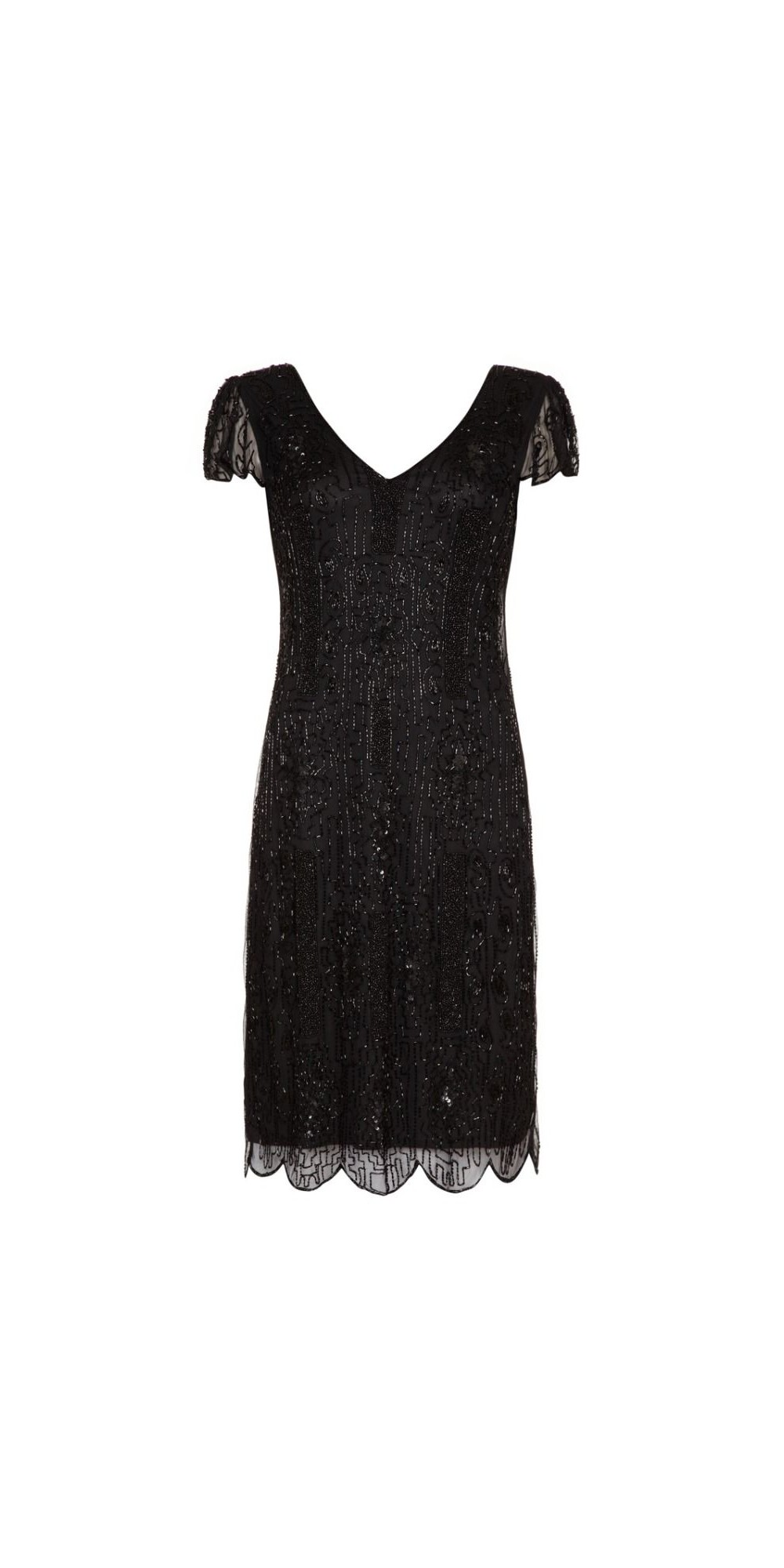 bd3bf643007 1920 Style Beaded Dress in Black