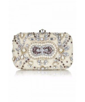 Gatsby Inspired Hand Beaded Bag in Cream