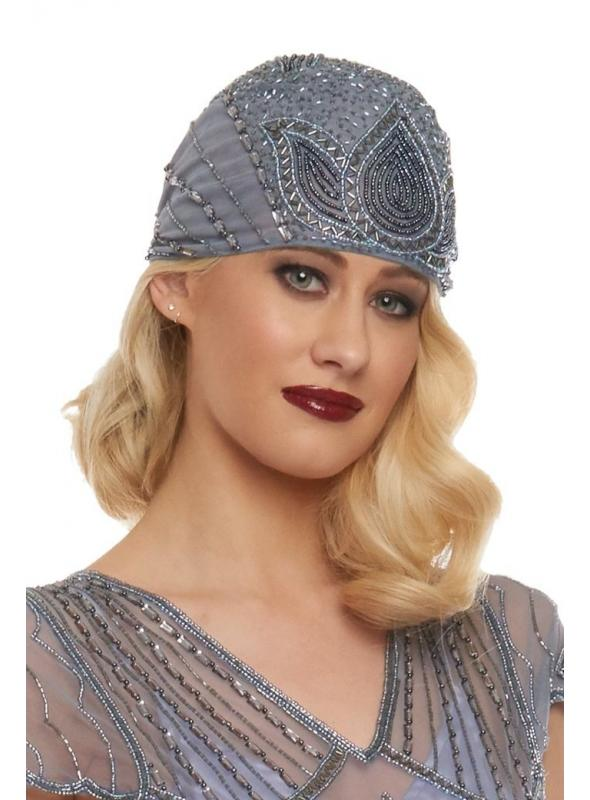 Vintage Inspired Flapper Cap in Lilac