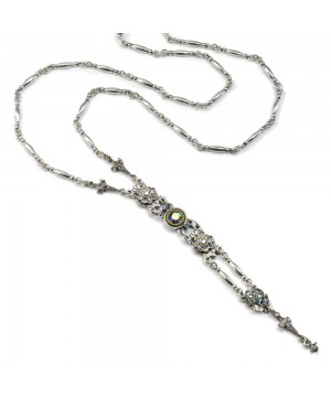 Art Deco Elegant Y Necklace in Silver