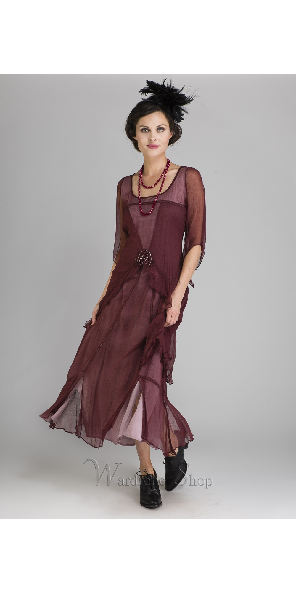 Great Gatsby Party Dress in Garnet by Nataya
