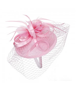 1920s Style Fascinator with Mesh Veil in lavender
