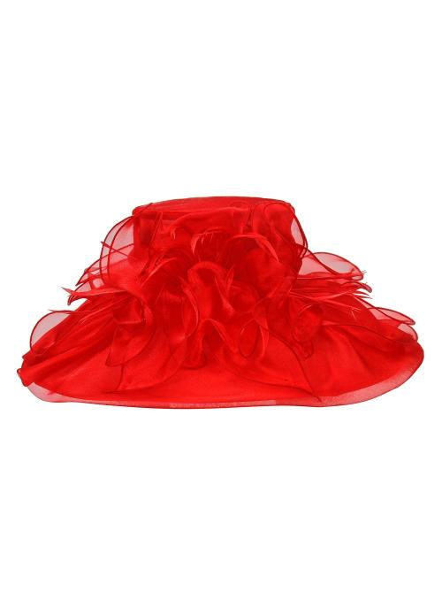 1920s Style Organza Hat in Red