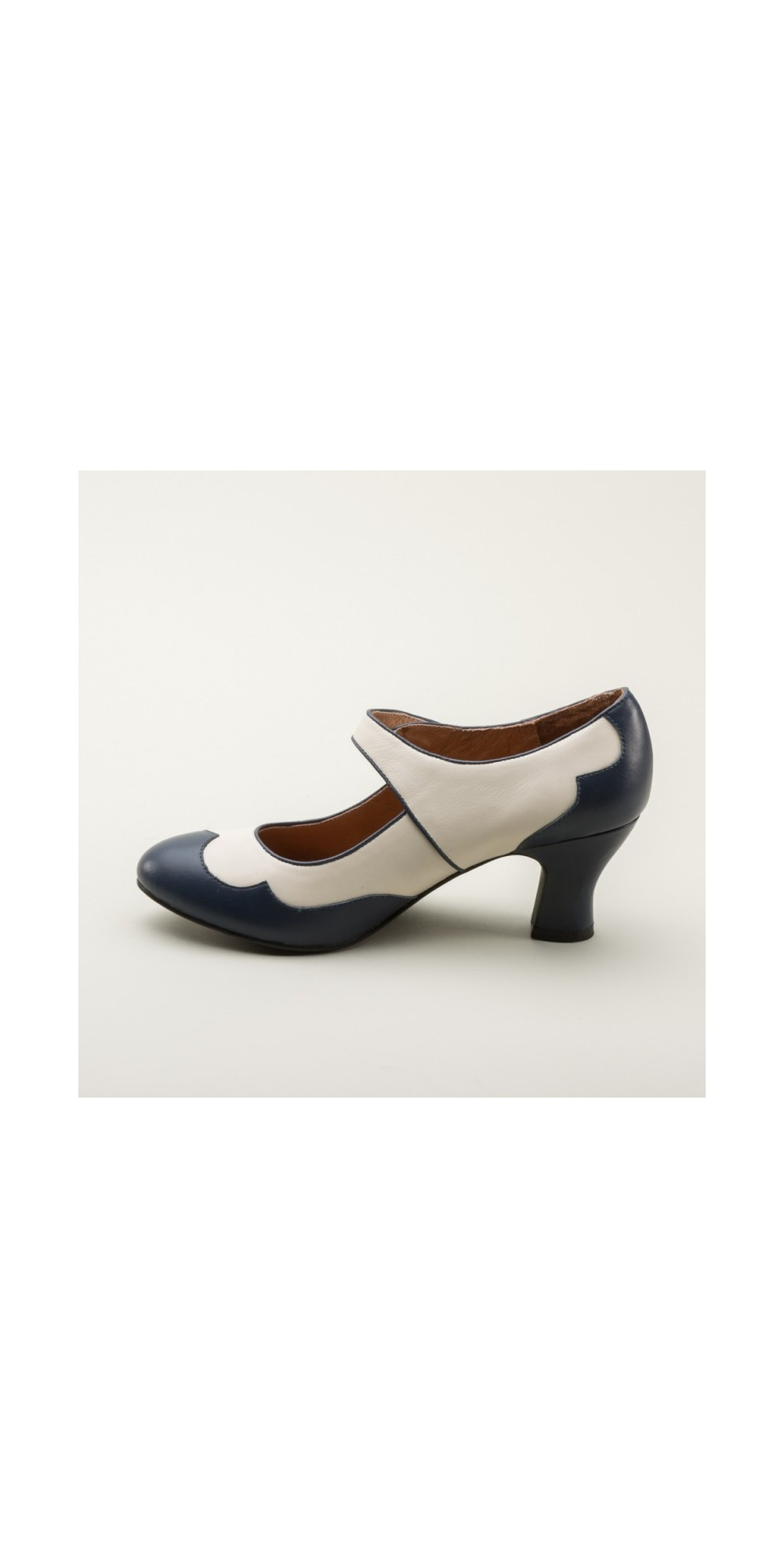 a8eaee83a9ab Lillian Retro Shoes in Navy Ivory by Royal Vintage Shoes