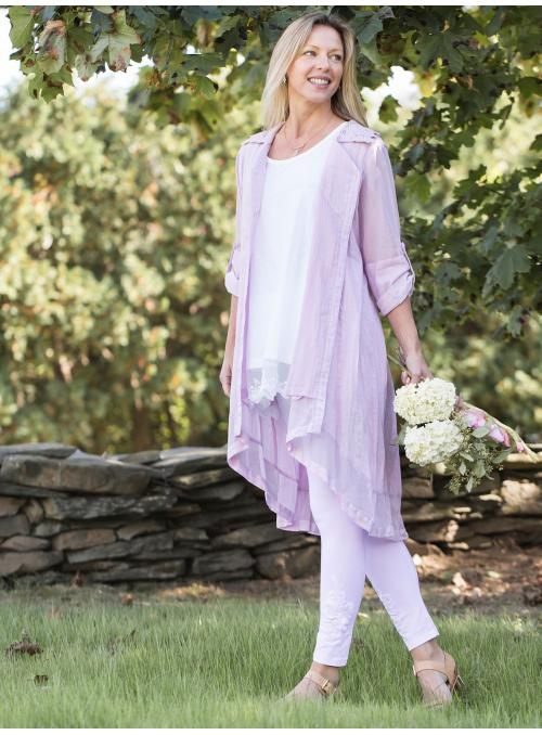 Dove Vintage Inspired Jacket in Lilac by April Cornell