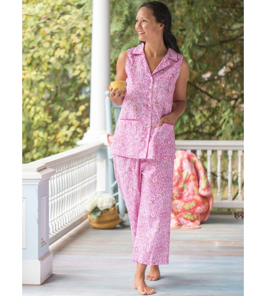 Romantic Floral Pajama in Pink by April Cornell