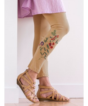 Vintage Style Tapestry Legging in Maize by April Cornell