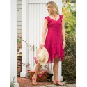 Josephine Romantic Dress in Fuchsia