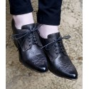Retro Style Leather-Wrapped Heels in Black - SOLD OUT