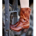 Basanty Mid-Calf Cowgirl Boots in Cognac
