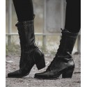 Baisley Modern Vintage Boots in Black Rustic