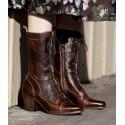 Baisley Modern Vintage Boots in Teak