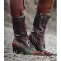 Baisley Modern Vintage Boots in Cognac Teak
