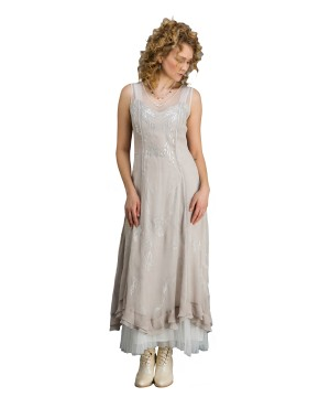 True Romance CL-069 Vintage Inspired Wedding Gown in Silver/Grey by Nataya