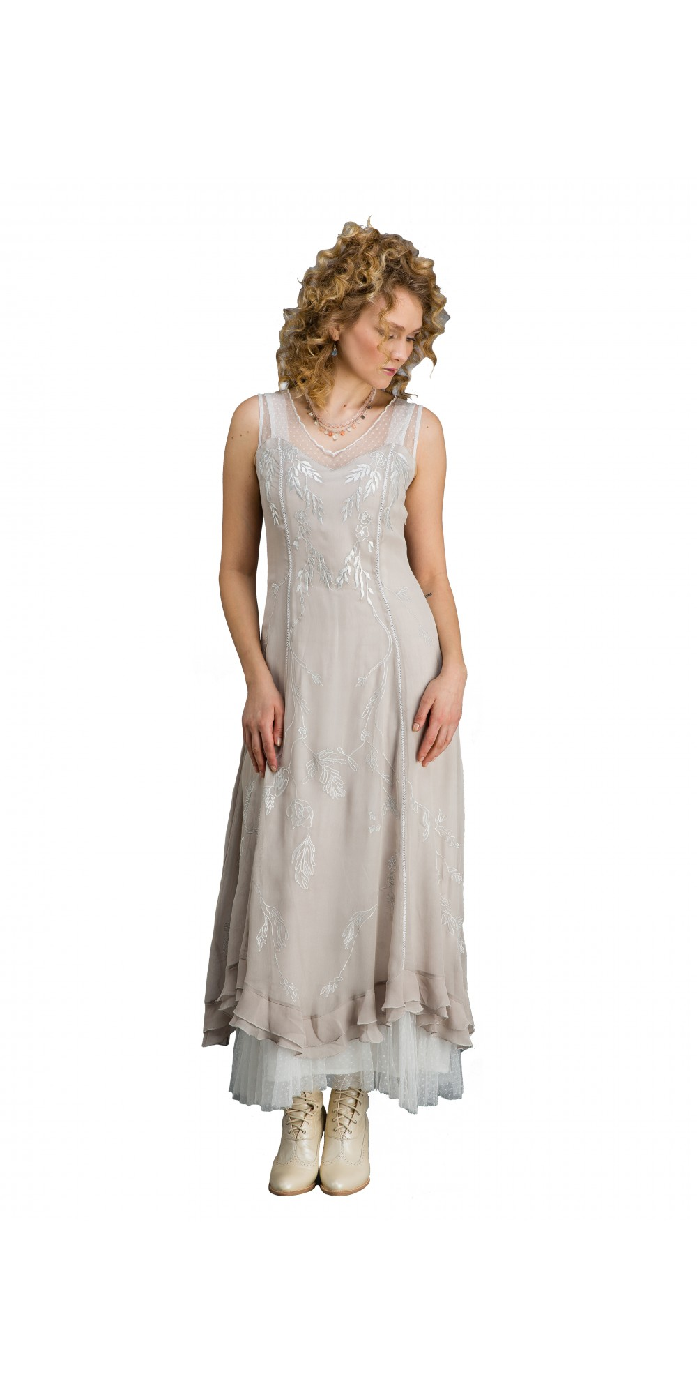 True Romance CL-069 Vintage Inspired Wedding Gown in Silver/Grey by ...