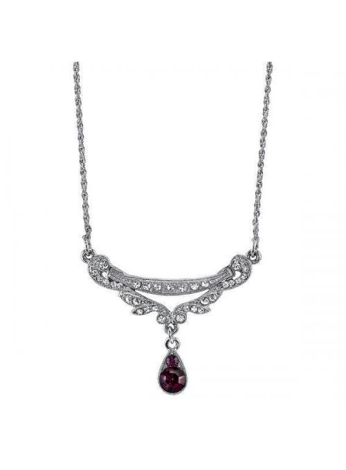 Downton Abbey Amethyst Crystal Necklace by 1928 Jewelry