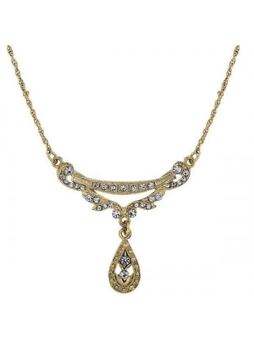 Downton Abbey Teardrop Necklace by 1928 Jewelry