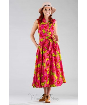 Daydream Vintage Style Dress in Pink by April Cornell