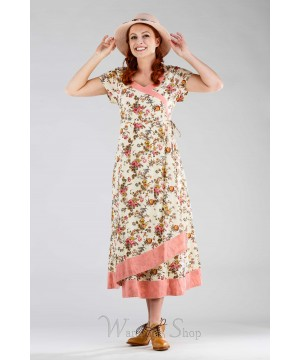 Victorian Style Courtyard Dress in Ecru by April Cornell