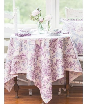 Lemon Mousse Cotton Tablecloth in Ecru by April Cornell