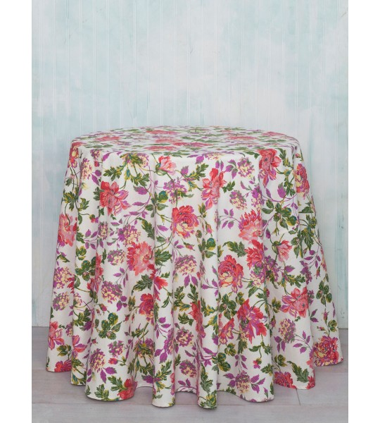 Cherry Pie Cotton Round Tablecloth by April Cornell