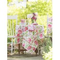 Mint Lemonade Cotton Garden Tablecloth in Ecru | April Cornell - SOLD OUT