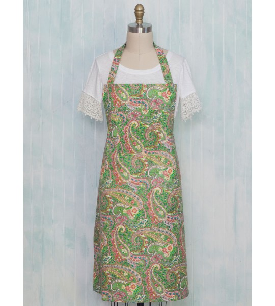 Mac 'n Cheese Cotton Apron in Green by April Cornell